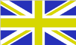 Great Britain Blue and Yellow Large Country Flag - 5' x 3'.